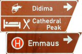 Roadsign, Right to Didima and Cathedral Peak